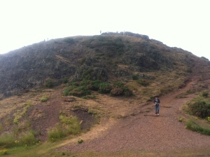 The hike up to Arthur's Seat (not named for King Arthur at all...look it up!)